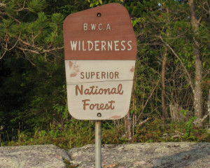 BWCAW sign
